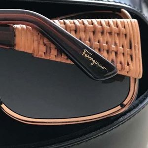 Salvatore Ferragamo Oversized Tortoise Sunglasses